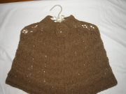 Hand-knitted shrug